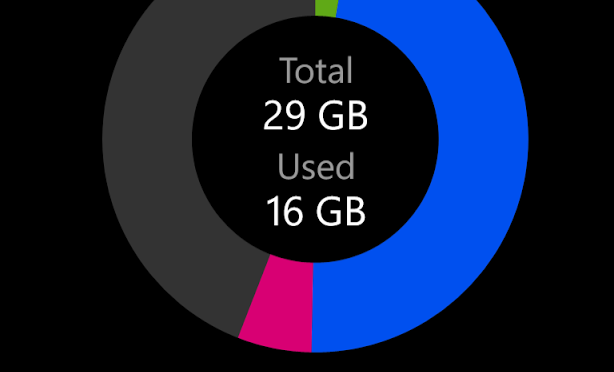 Windows 8 Phone Storage Check