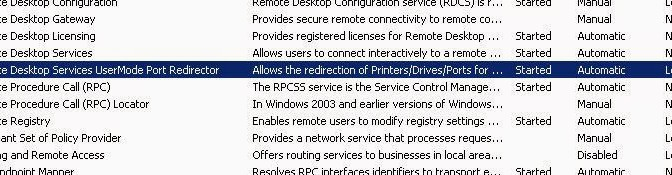 Remote Desktop Printer Redirection